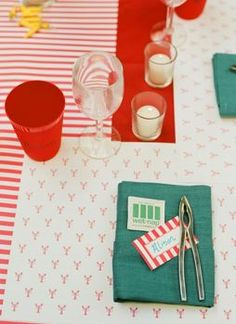 lobster bake party   - i love this so much. maybe a birthday party or a fun anniversary or engagement party idea