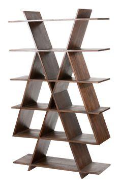 Debenhams - Seesham wood 'Radius' bookshelf  (2)