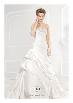 Ellis Bridals Wedding Dress - 11381. To see our Ellis Bridal Collection visit: http://www.lovethatfrock.com/wedding/the-bride/wedding-dresses/?designer=24
