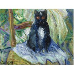 NIKOLAI  TARKHOV,1871-1930.  BLACK CAT.