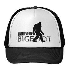 2ce50c6c88666 I Believe in Bigfoot Funny Sasquatch Mesh Hats  squatch Mesh Hats