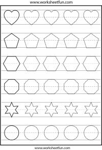 Shape tracing – 1 Worksheet