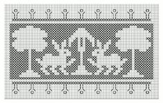 Free Embroidery Designs, Assisi Rabibits, Voided Embroidery, Cross-Stitch. Red design