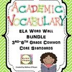 This colorful chevron themed BUNDLE of Common Core ELA academic vocabulary word wall cards is perfect for display in any 3rd through 6th grade or multi-level classroom. This word wall set was created based on the 3rd - 6th grade word lists developed by the Common Core State Standards and contains ALL words from the Reading Literature, Informational Reading, Writing, Speaking/Listening and Language strands. This is a MEGA bundle for a reasonable price! This BUNDLE contains 195 word wall…