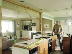 the kitchen itself is unfinished in this pic - but I LOVE the tan and blue together