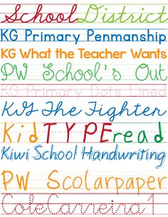 Favorite Free Fonts: Kid's Handwriting perfect for Back 2 School decor.