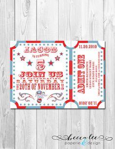 Circus Carnival Theme Party Invitation - DIY - Printable on Etsy, $14.00