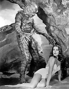 "1954 - ""Creature from the Black Lagoon"".  I saw this when I was a little girl.  It doesn't work as well now."