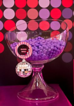 This glamorous PINK DISCO BIRTHDAY PARTY was submitted by Yolanda Cerra of Kiss Me Kate Cakes, Cookies and Events.