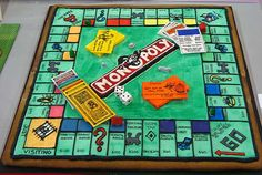 Monopoly Board Game Cake