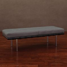 Andalucía Charcoal Leather Bench | Overstock.com Shopping - Great Deals on Benches
