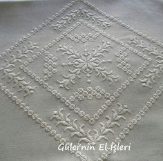 Hardanger Embroidery, Learn Embroidery, White Embroidery, Embroidery Stitches, Embroidery Patterns, Hand Embroidery, Bookmark Craft, Cross Patterns, Satin Stitch