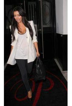 Kim Kardashian in LNA leggings