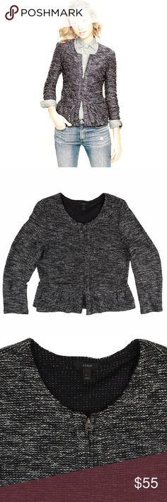 Spotted while shopping on Poshmark: JCREW Black & Gray Tweed Boucle Peplum Jacket! #poshmark #fashion #shopping #style #J. Crew #Jackets & Blazers