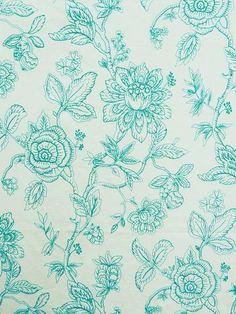 KEATON AQUA Non Woven Bags, 2015 Trends, Crewel Embroidery, Flocking, Aqua, Fabrics, Tapestry, Texture, Floral