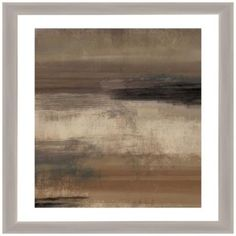 "Strokes II 33"" Square Framed Matted Giclee Wall Art"