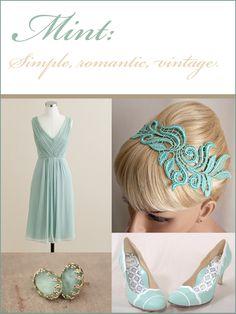 Mint Wedding Inspiration #mint #wedding #details