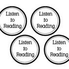 This set includes labels for Listen to Reading, Word Work (numbered), and Read to Someone.  I use them for the baskets that house student materials...