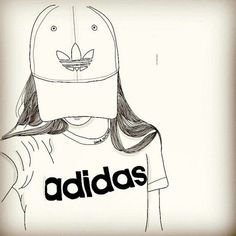 Imagen de adidas, outline, and art