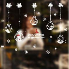 DIY Pegatinas de Pared Ventana de cristal de decoración de Navidad bolas de navidad bola de cristal adornos de navidad Ventana Kerstballen(China (Mainland))
