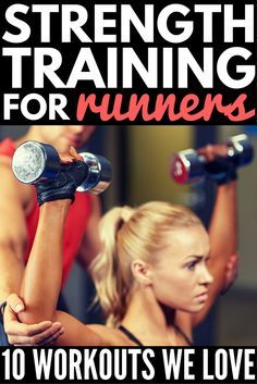 Many long-distance runners forget the importance of strength training for runners. Certain workouts target the body parts used most while running, and this collection of exercises will work your ankles & abs, your arms & shoulders, & of course your legs. Whether you're training for your first half marathon, or you're running for weight loss, these at-home workouts will make you stronger and faster! #runningtips #workout #exercise #weightloss #cardio #muscle #burnfat