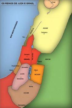 Reino de Davi e Salomão: Israel e Judá - Mapas Bíblicos