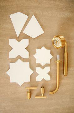 Bathroom tile shapes