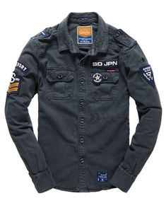 Mens - Delta Shirt in Hurricane Blue | Superdry