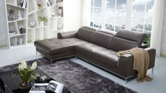 J&M 1727 Sectional Left Brown