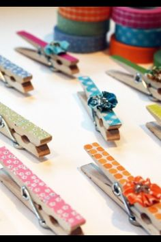 Cute pins! Glue ribbon on a stick your favorite stickers on and walla!!