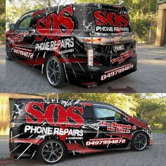 Van Wrap for SOS Phone Repairs! Go crazy, show us what you got! by ssrihayak