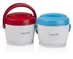 Crock-Pot SCCPLC200-2BR 20-Ounce Lunch Crock Food Warmer, Blue/Red, 2-Pack: Kitchen & Dining: Amazon.com
