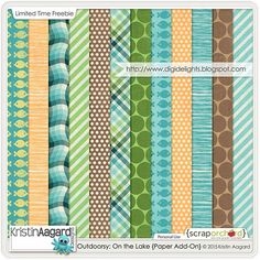 Free Outdoorsy On The Lake Paper Pack | Kristin Aagard Designs