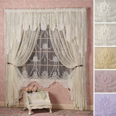 Garland Lace Window Treatment - I haven't tallied up the cost because window sizes vary greatly...