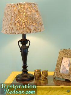 Drop Cloth Ruffled Lamp Shade http://www.restorationredoux.com/?p=4735