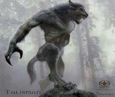 Werewolf Vs Vampire, Werewolf Art, Fantasy Creatures, Mythical Creatures, Dark Fantasy, Fantasy Art, Fantasy Beasts, Vampires And Werewolves, Fantasy Monster