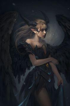 "my newest artwork - full version of "" Maleficent"" artwork!- my newest artwork – full version of "" Maleficent"" artwork! hope everybody … my newest artwork – full version of "" Maleficent""… - Dark Fantasy Art, Fantasy Girl, Fantasy Artwork, Beautiful Fantasy Art, Demon Artwork, Fantasy Queen, Elves Fantasy, Fantasy Love, Dark Artwork"