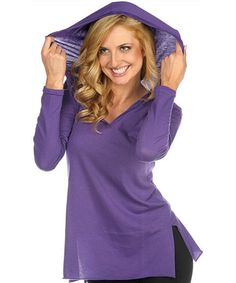 Take a look at this Purple Burnout Jersey Hoodie by TROO on #zulily today!