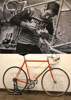 One-track minds, keeping an eye on the past, and pressing the restart button. A visit to Eddy Merckx cycles.