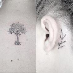 tattoo friday minimalismo linhas finas pontilhismo Jabuk Nowicz