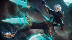 View an image titled 'Gusion Art' in our Mobile Legends: Bang Bang art gallery featuring official character designs, concept art, and promo pictures. Wallpaper Rock, Mobile Legend Wallpaper, Hero Wallpaper, Wallpaper Keren, Wallpaper Maker, Wallpaper Desktop, Black Wallpaper, Nature Wallpaper, Fantasy Male