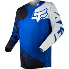 Fox Racing 180 Race Men s Off-Road Motorcycle Jerseys - Blue   Small fd1b6134d