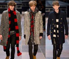 Yves Saint Laurent Fall/ Winter 2014 Men's Coat