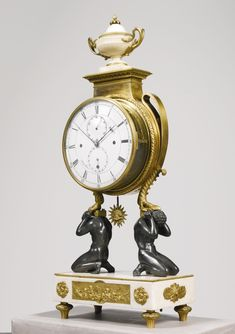 A COMPLICATED ASTRONOMICAL GRANDE SONNERIE DOUBLE DIAL MANTEL CLOCK, PHILIPP FERTBAUER, VIENNA, CIRCA 1800