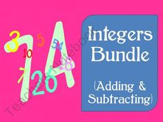 Integers (Adding and Subtracting) ~ Middle School Math Bundle from MATH in the Middle Grades on TeachersNotebook.com (38 pages)  - 9 engaging, high interest  integer worksheets/activities.