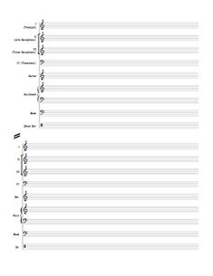 Treble Clef Staff Paper Free PDF download at httpstaffpapernet