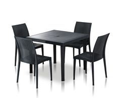 Dine Outdoors With The Durable Bistrot Modern Square Dining Set. Outdoor Furniture  Sets, Outdoor