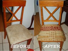 Simple DIY Tutorial on How to Reupholster Dining Room Chairs