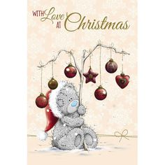 Tatty Teddy with Decorations On Branch Me to You Bear Christmas Card  £2.49
