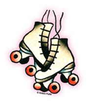 Classic Skates Mini Sticker